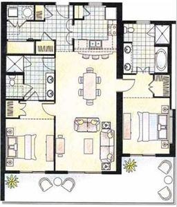 "Floorplan of our ""Windsong"" unit"