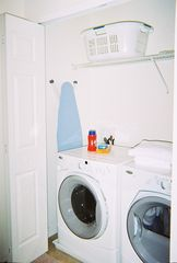 Compass Bay townhome photo - Laundry- Full sized washer & dryer; Iron and ironing board