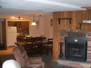 Killington condo photo - Wood burning fireplace - complimentary fire wood