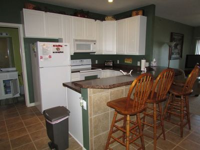 Our kitchen has all the conveniences of home.  Second bath off kitchen.