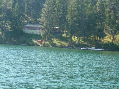 Lake view cabin and dock