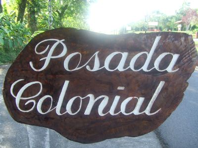 Sign in front of Entrance