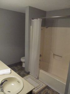 Upper condo bathroom