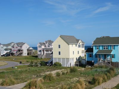 Neighborhood from top deck, with Atlantic Ocean views