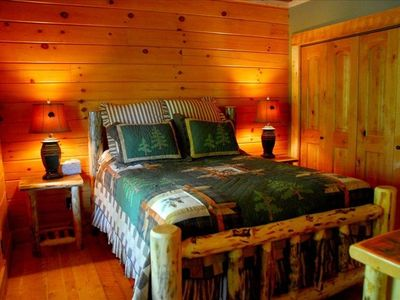 Bedroom Furniture on Main Level Bedroom With Rustic Log Furniture