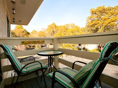 Folly Field villa rental - Deck- great place to have coffee in the morning! Overhead fan too!