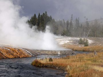 The Firehole River, Yellowstone.