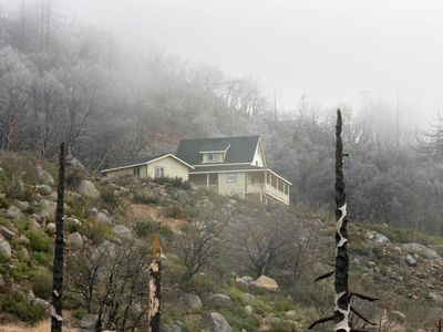 View of The Julian-Cuyamaca House from the private road below