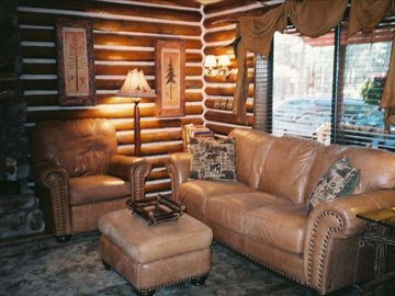 Lakeside cabin rental - Living Area