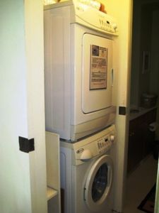 Both units have new front load Maytag waher and dryer in the unit.