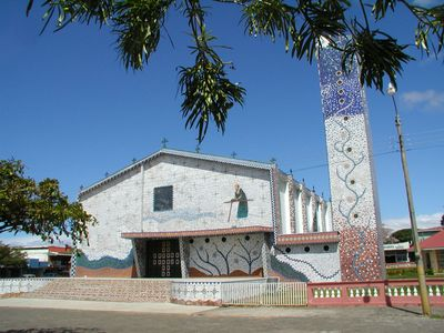 Tiled church in Canas