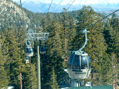 Mammoth Lakes condo rental - Town gondola from Village to Slopes