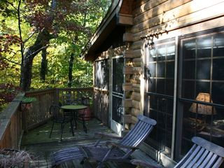 Private Side Deck - Wears Valley cabin vacation rental photo