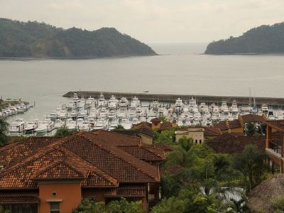 Ocean view of the Herradura Bay and Los Suenos Marina