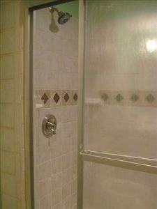 Master Bath with newly remodeled shower