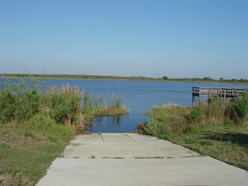 Boat ramp and fishing dock at Tower Lake
