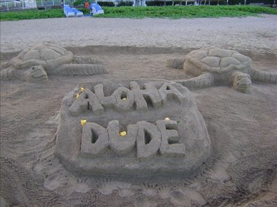 Sample of sand sculpture.