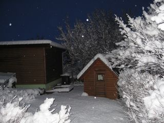 South Iceland house photo - The garden in winter time