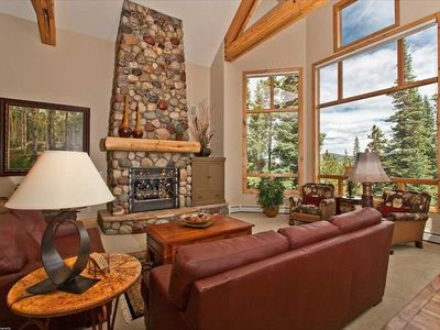 Breckenridge house rental - Luxury Great room with views of Mount Baldy.