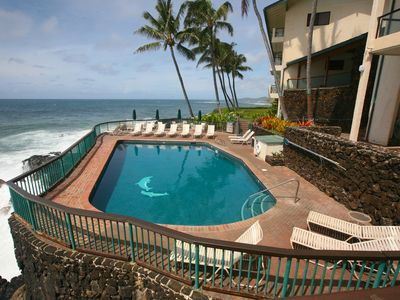 Poipu condo rental - Our heated, oceanfront pool is simply sublime. Pool or beach today?