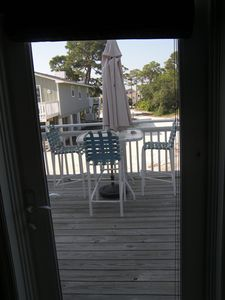 Door from master bedroom leading to deck