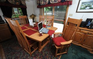 Acadia National Park cottage photo - The dining area has an expandable table and can seat up to eight adults