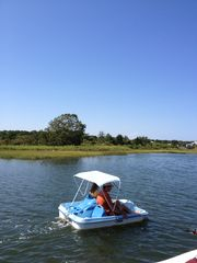 Yarmouth house photo - Enjoy pedal boating or kayaking on the River. Pedal Boat and 3 kayaks included!