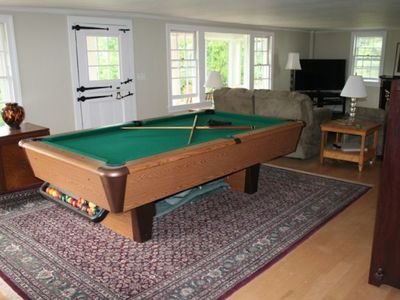 Living room - pool table