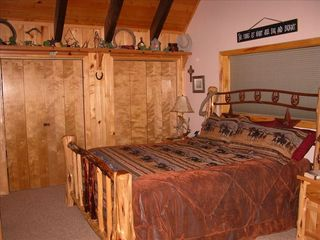 Pagosa Springs cabin photo - Master with King Bed (Texas Room)