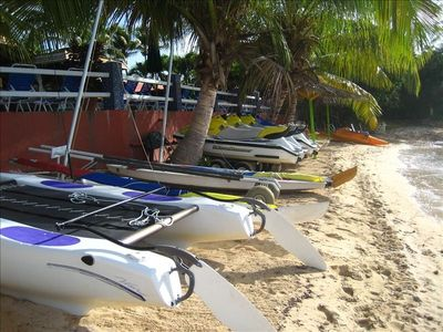JET SKIS, SUNFISH, PADDLEWHEELS, DIVING AND MORE ON SITE AT BOLONGO BAY.