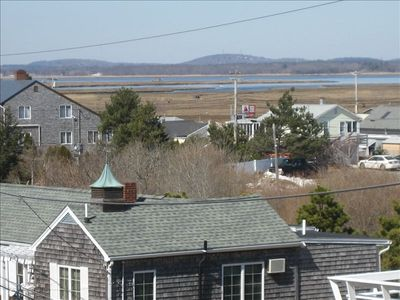 Marsh view from roof-top deck
