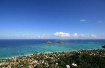 View of Lanikai from Great Hiking Trail