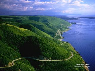 Cheticamp house photo - Cape Breton Highlands National Park with Cheticamp and the Island in distance.