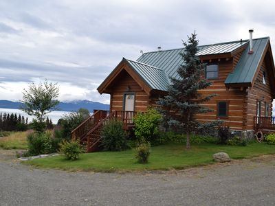 Front Entrance with Kachemak Bay in background