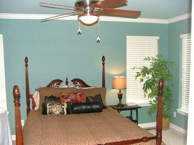 Hot Springs house rental - Master Bedroom on Main Level with Queen Bed