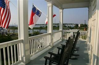 Beaufort house photo - Upper Porch with Beautiful Views