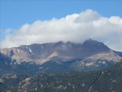 Pikes Peak from private back patio.