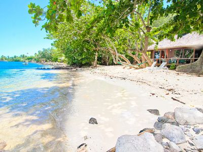 Fabulous beachfront location on famous Opunohu bay!
