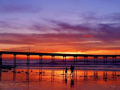 Ocean Beach house rental - Sunset at OB Pier
