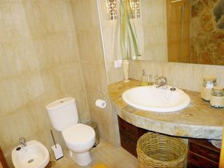 Puerto de la Cruz apartment photo - Marter bathroom ( hairdryer, flatiron, shampoo, gel & towels)