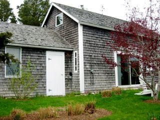 Chilmark cottage photo - The Barn in Early Spring and before beach grasses provide a screening.