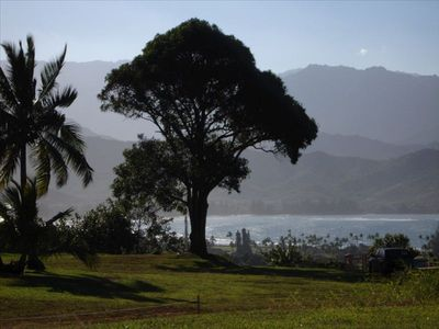 On the bluff in Hanalei Garden Farm Estates, 2.5 level acres overlooking the bay