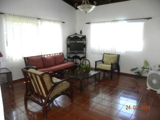 Puerto Plata villa photo - Family/livingroom with cable tv/dvd and stereo for your entertainment