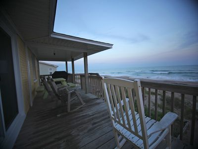 Emerald Isle cottage rental - Deck off living room and kitchen