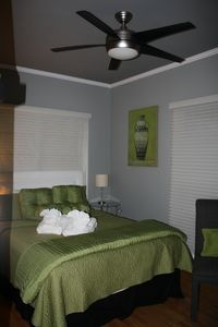 Queen Guest Bedroom with TV
