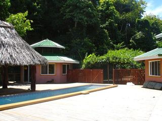 Playa Zancudo house photo - 2 Outdoor Cabinas open to Pool..