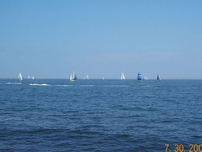 Sailboat race off the Seawall...a regular occurance.