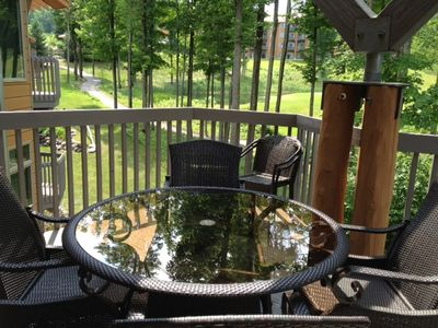 Bellaire / Shanty Creek condo rental - View of 18th from spacious deck.