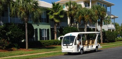 Free shuttle offered seasonally to take you to the beach