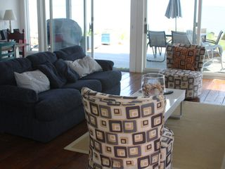 Provincetown condo photo - Living area-sliders to the deck.